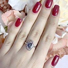 Серебряное кольцо Летисия с мистик топазом
