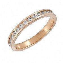 Золотое кольцо с фианитами Стивия