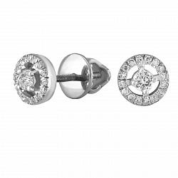 Серьги из белого золота Жюлиет с бриллиантами