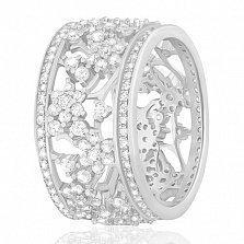 Кольцо из серебра с фианитами Королевский сад