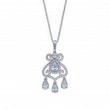 Серебряный кулон Вероника с кристаллами циркония