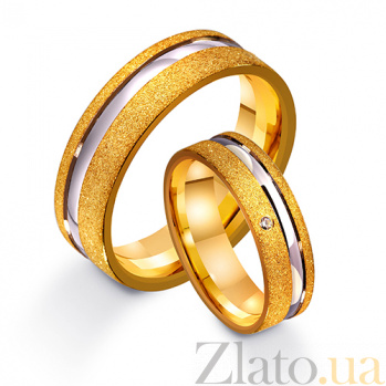 Золотое обручальное кольцо Единственная любовь с фианитом TRF--4421488
