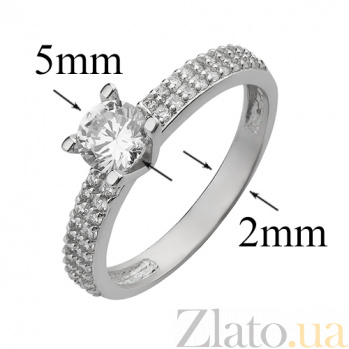 Серебряное кольцо с фианитами Улада 2172.1