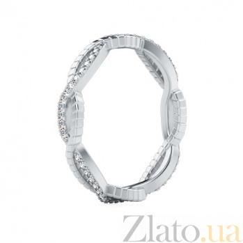 Обручальное кольцо из белого золота с бриллиантами Золотое сечение 723