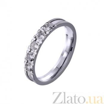 Золотое обручальное кольцо Снег с цирконием TRF--4221152