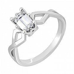 Кольцо из белого золота с бриллиантом 000014934