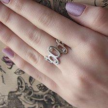 Серебряное кольцо Миола с фианитами