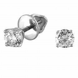 Серьги из белого золота Ивис с бриллиантами
