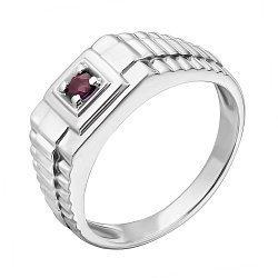 Срібний перстень з рубіном Річард 000030743