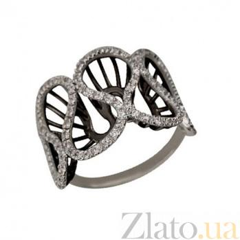 Кольцо из белого золота Боттичелли с фианитами VLT--ТТ1069