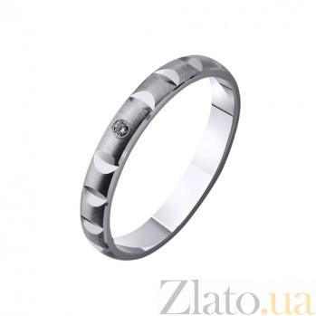 Золотое обручальное кольцо Магическая нежность с фианитом TRF--4221139