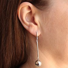 Серебряные серьги-подвески Гипнотические шарики