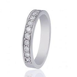 Обручальное кольцо из белого золота с бриллиантами 000001611