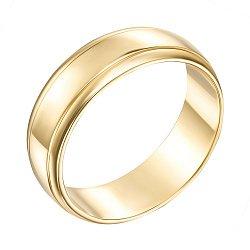 Обручальное кольцо Классика стиля в желтом золоте