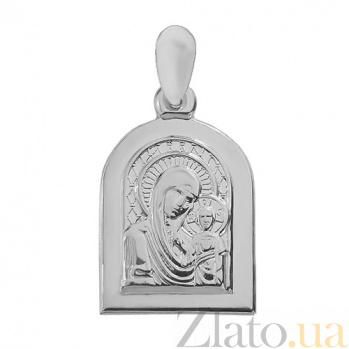 Серебряная ладанка Божья матерь с сыном 000018876