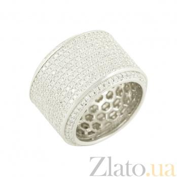 Серебряное кольцо с фианитами Роксолана 3К543-0077