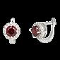 Серебряные серьги с красными фианитами Вильдана SLX--СК2ФГ/437А