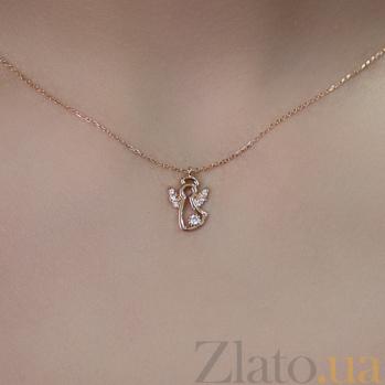 Колье из красного золота Angel SVA--7101980101/Фианит/Цирконий