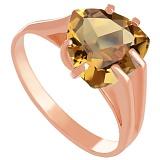 Золотое кольцо Леона с цитрином