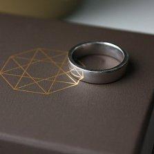 Серебряное обручальное кольцо Амрит