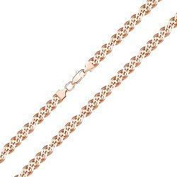 Браслет из красного золота в плетении Нонна с алмазной гранью 000128096