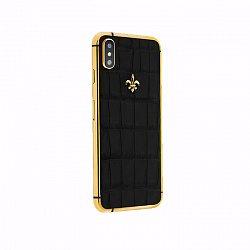 Apple IPhone XS Noblesse LUMINARY DEEP BLACK в черной коже крокодила и золоте