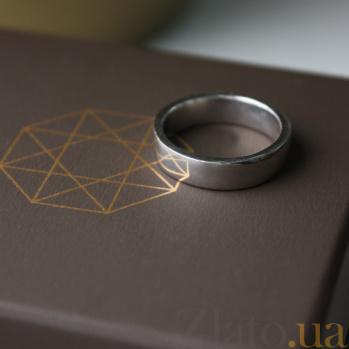 Серебряное обручальное кольцо Американка 000032387