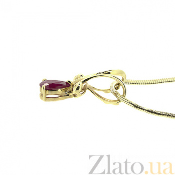 Подвес из желтого золота с рубином Соланж ZMX--PR-6047y_K