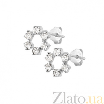 Серебряные сережки Эвин SLX--С1СТ/622