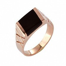 Золотое кольцо с ониксом Нолвен