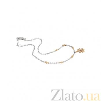 Браслет из комбинированного золота с бриллиантами Теплое лето 000032279