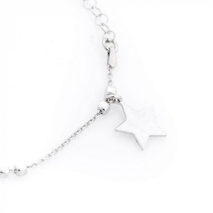 Серебряный браслет Звезды 000080271