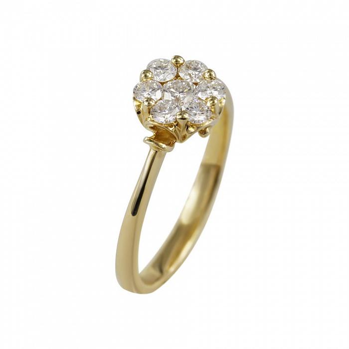 Кольцо из желтого золота София с бриллиантами 000080874