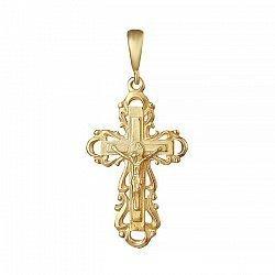 Серебряный крестик с позолотой 000039694