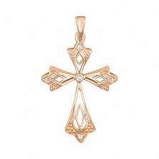 Золотой крестик Вдохновение с бриллиантами