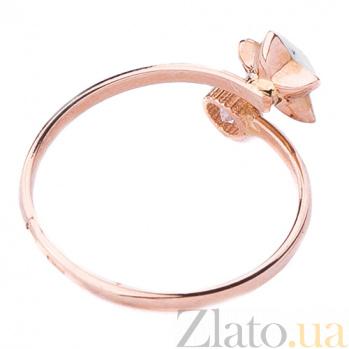 Золотое кольцо Звездочка с цветной эмалью и фианитом ONX--к03681