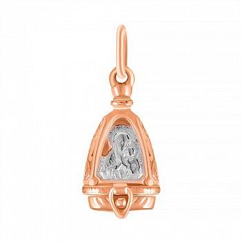 Серебряная ладанка Высшая любовь с позолотой 000025220