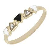 Золотое кольцо Наоми с бриллиантами и эмалью