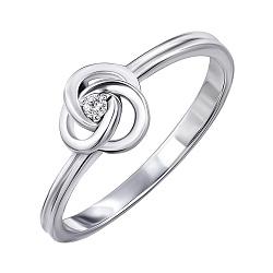 Серебряное кольцо с бриллиантом 000072563
