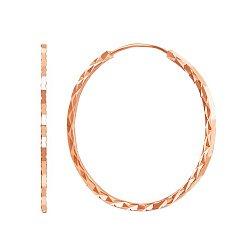 Серьги-конго из красного золота 000011451