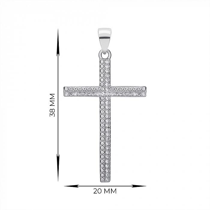 Крестик из серебра с фианитами 000147345 000147345