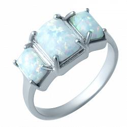 Серебряное кольцо Зарита с белым опалом
