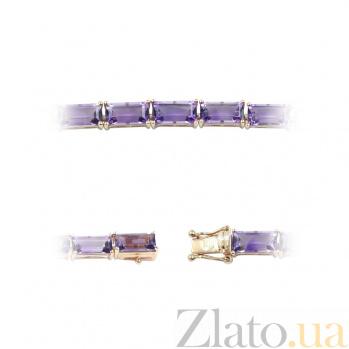 Золотой браслет с аметистами Violet horizon 000026961