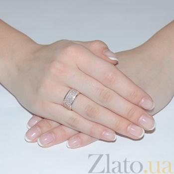 Золотое кольцо с фианитами Звездная ночь 11455