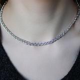 Серебряная родированная цепочка Виолетта