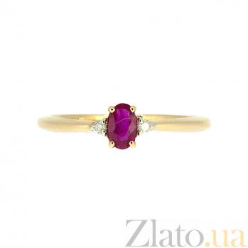 Кольцо из красного золота с рубином и бриллиантами Марселина ZMX--RR-6735_K