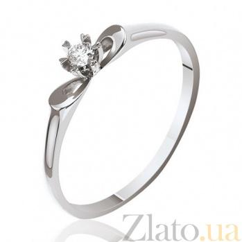 Кольцо из белого золота с бриллиантом Первоцвет EDM--КД7490/1