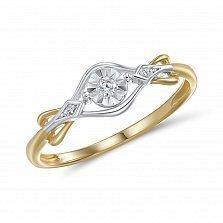 Кольцо Виталина из комбинированного золота с бриллиантами