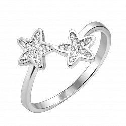 Серебряное кольцо с фианитами 000112674