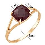 Золотое кольцо Кушон с гранатом